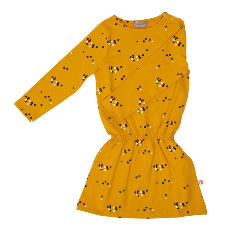 Froy en Dind Dress Angel Dots Mustard