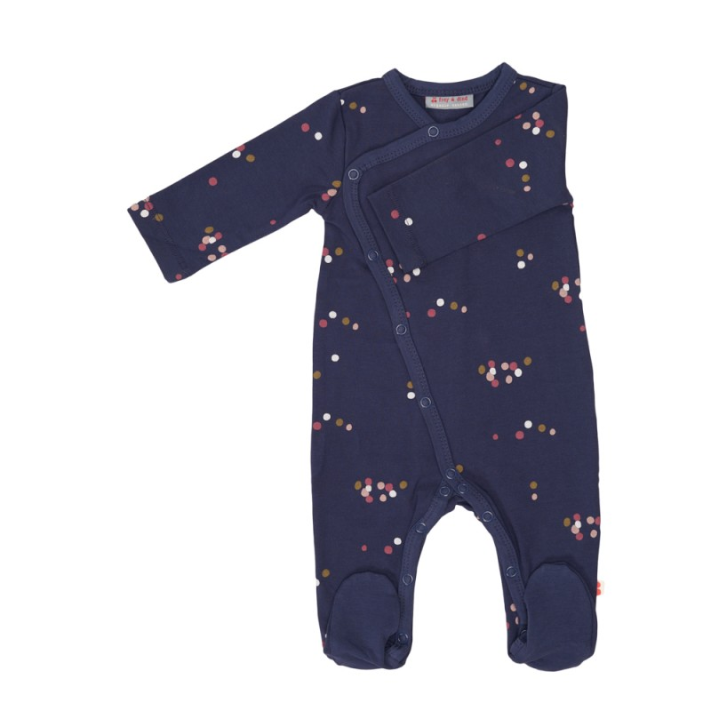 Froy en Dind Jumpsuit with Feet Dots Blue