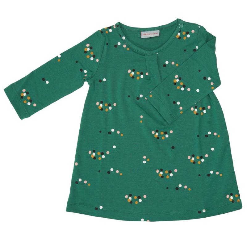 Froy en Dind Dress Rosana Dots Green