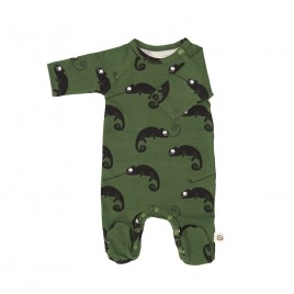 Onnolulu Jumpsuit Otto with Feet Chameleon