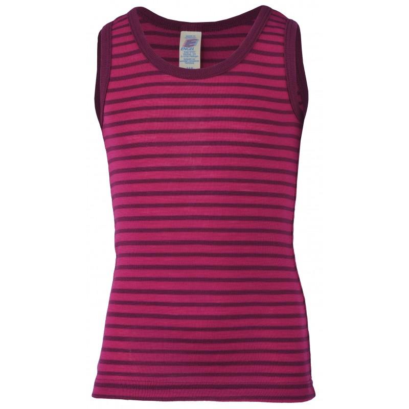 Engel Children's shirt sleeveless, fine rib raspberry/orchid