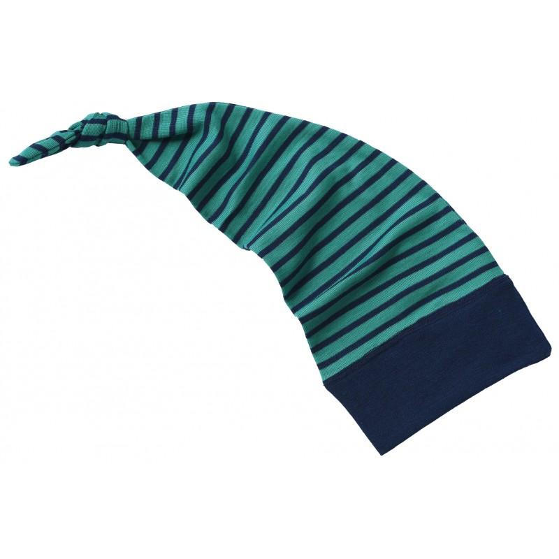 Engel Long stocking hat ice-blue/navy-blue