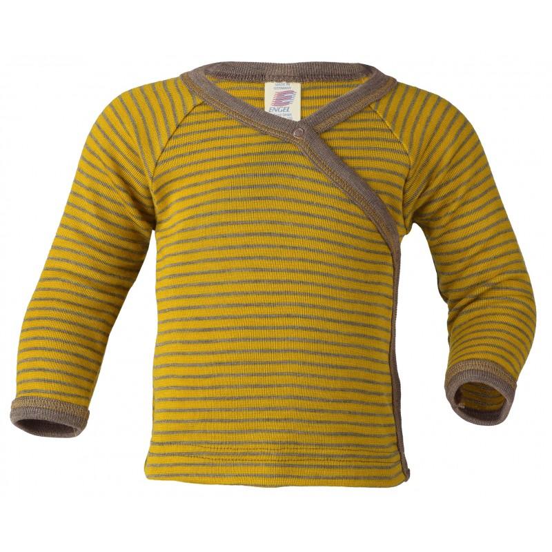 Engel Shirt long sleeved Saffron/walnut