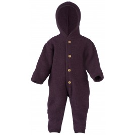 Engel Hooded Overall with Cuffs Lilac melange