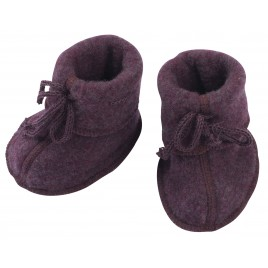 Engel Baby Bootees with Ribbon Lilac melange