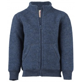 Engel Baby Zip Jacket Blue melange