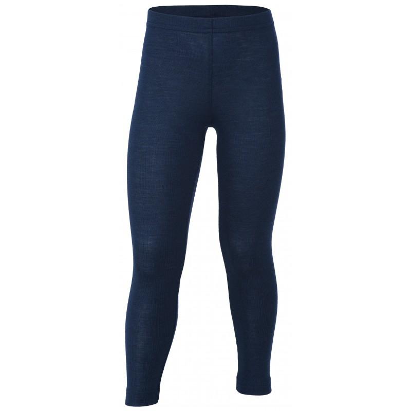 Engel Children's leggings, fine rib marine