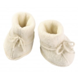 Engel Baby-Booties With Ribbon Natur