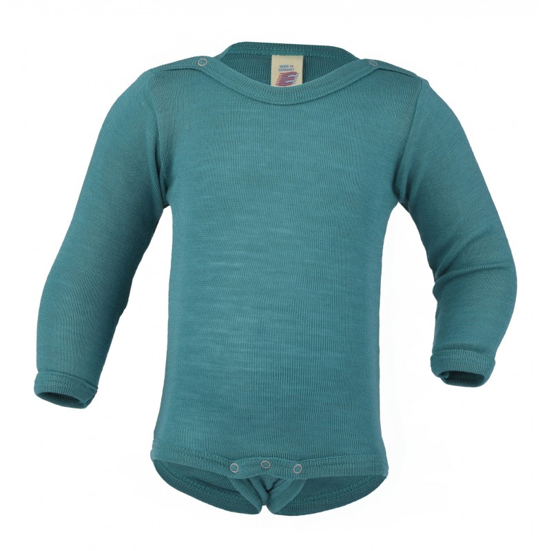 Engel Baby-Body Long Sleeved, with Press-Studs Ice-Blue