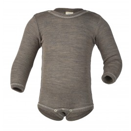 Engel Baby-Body Long Sleeved, with Press-Studs Walnut