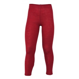 Engel Children's leggings, fine rib cherry-red