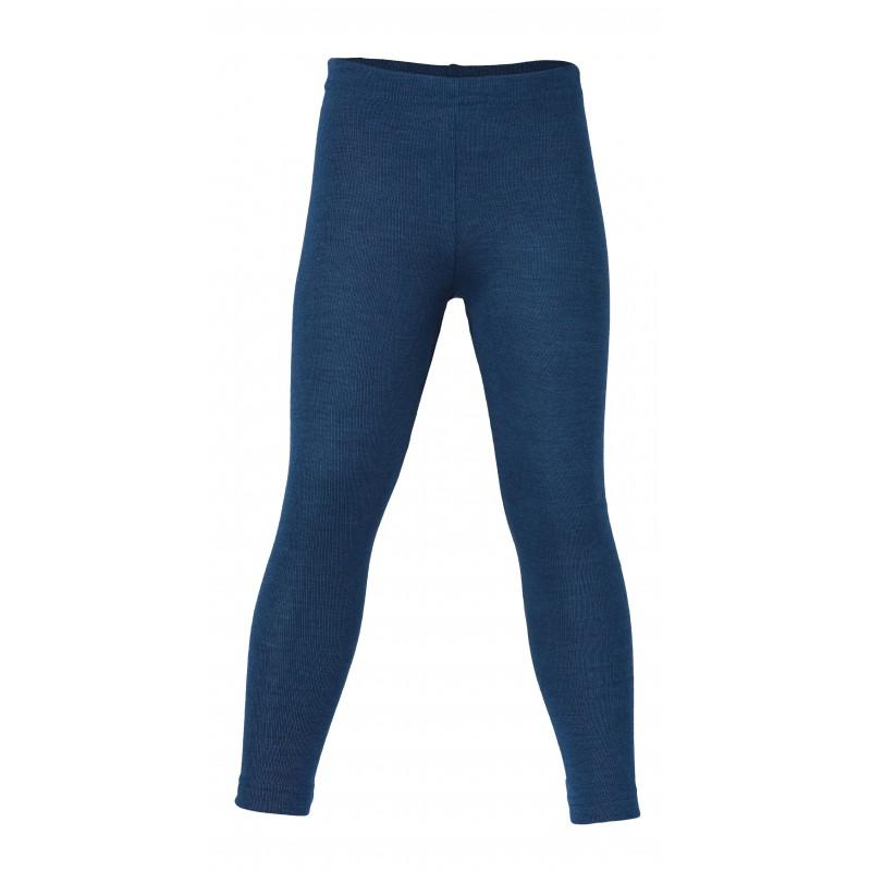 Engel Children's leggings, fine rib light ocean