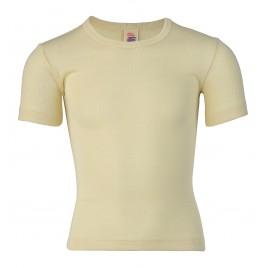 Engel Children's vest short sleeved, fine rib natural