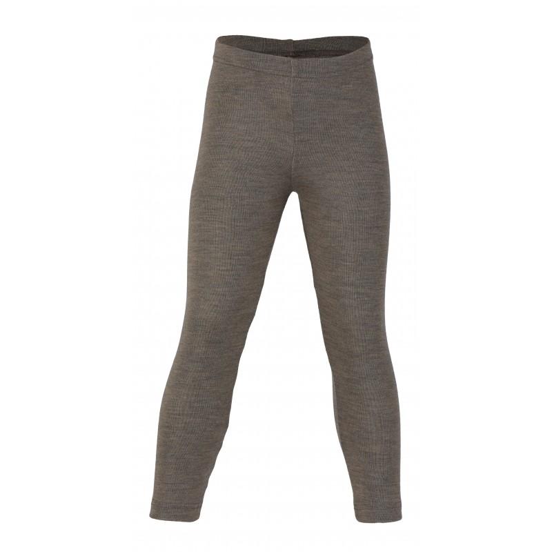 Engel Children's leggings, fine rib walnuss