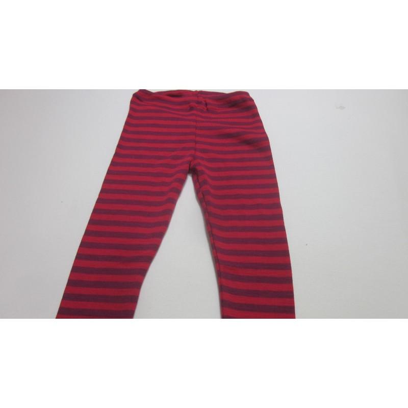 Engel Baby leggings, fine rib Cherry-red/orchid