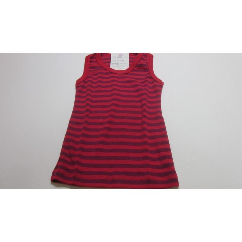 Engel Children's shirt sleeveless, fine rib kirshrot/orchid