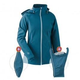 Mamalila Sofshell Babywearing Jacket Teal
