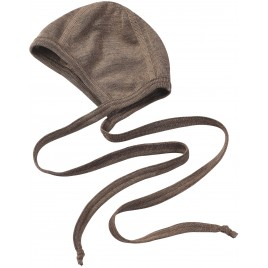 Engel Baby-Bonnet wol-zijde walnut