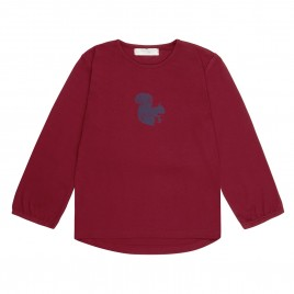 Sense Organics Naemi Shirt L/S Red Squirrel Print