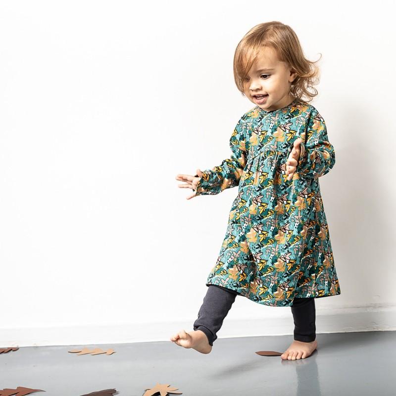Sense Organics Anni Baby Dress Leaves