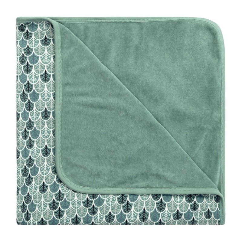 Sense Organics Sita Baby Blanket Light Teal Trees