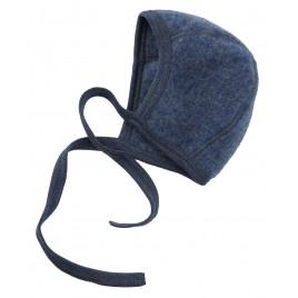 Engel Baby Bonnet Fleece blue mélange