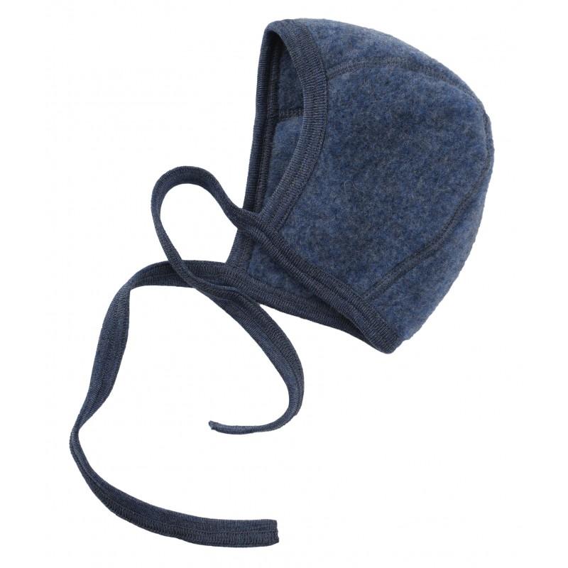 Engel Baby-Mütze, Fleece blau melange