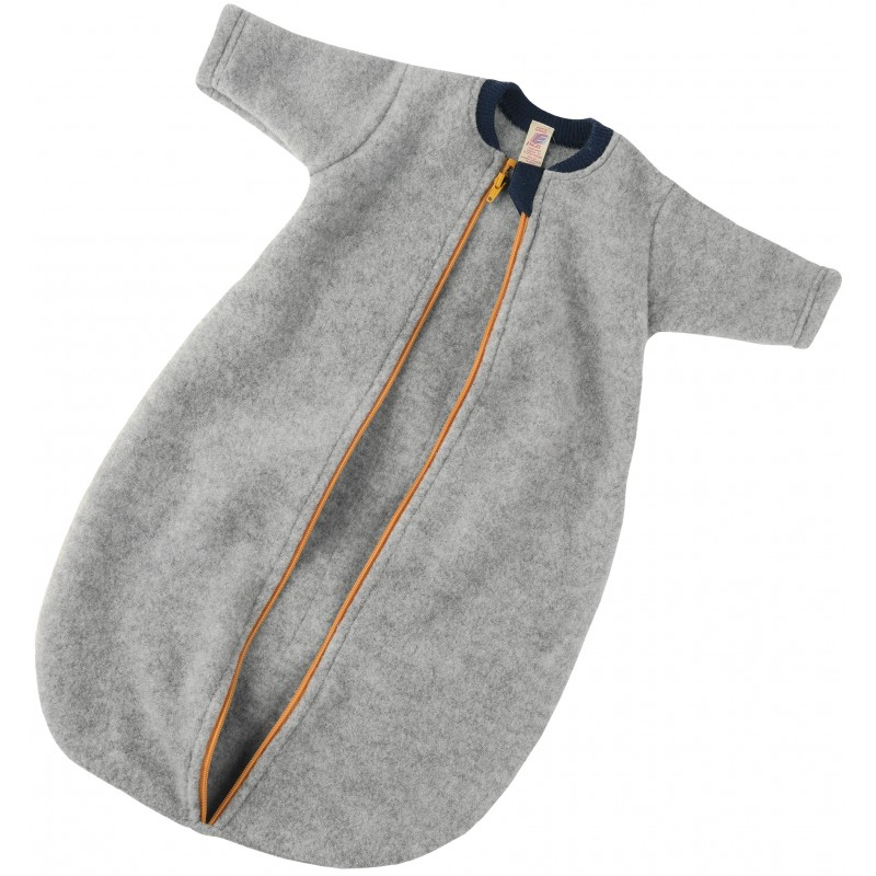 Engel Baby-Sleeping Bag  Long sleeved light grey mélange