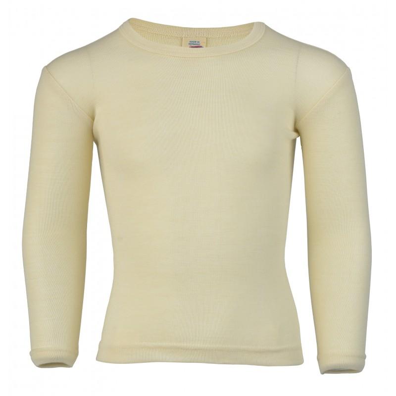 Engel Children's vest long sleeved, fine rib natural