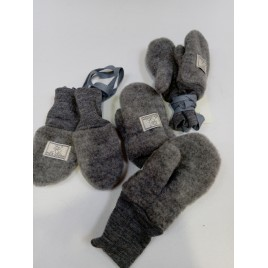 Pickapooh Wanten Wollfleece grey