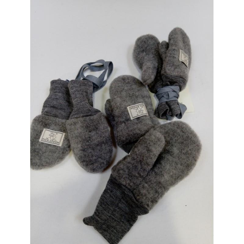 Pickapooh Wanten Wollfleece grey