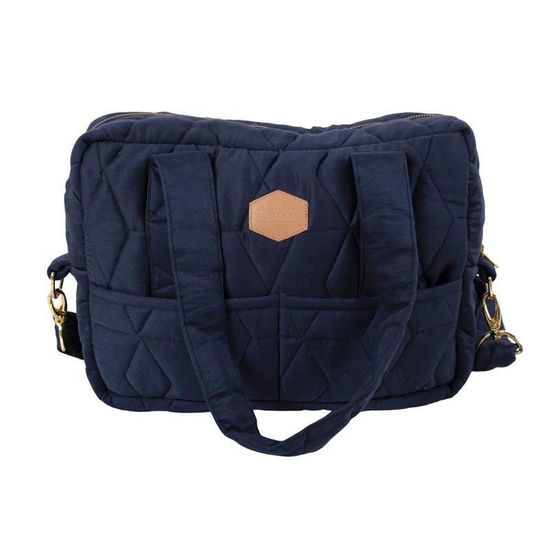 Filibabba Nursery Bag Soft quilt  Dark Blue