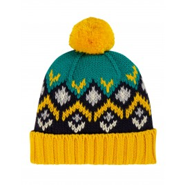 Frugi Blizzard Bobble Hat Bumble Bee Fairisle