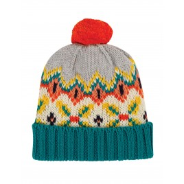 Frugi Blizzard Bobble Hat Tin Roof Fairisle