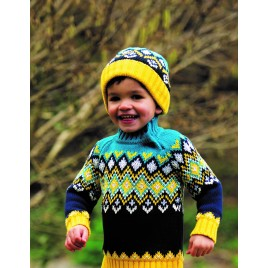 Frugi Fyfe Fairisle Jumper Bumble Bee Fairisle