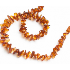 Grün Specht Baby Amber Necklace Chip cognac