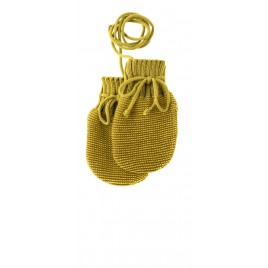 Disana Knitted Mittens curry-gold