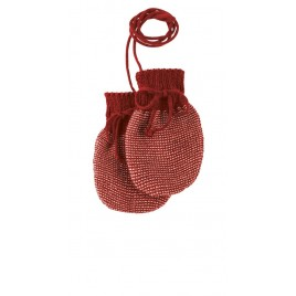 Disana Bordeaux Knitted Mittens bordeaux-rosé