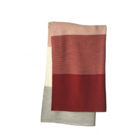 Disana Knitted  Blanket bordeaux-rose
