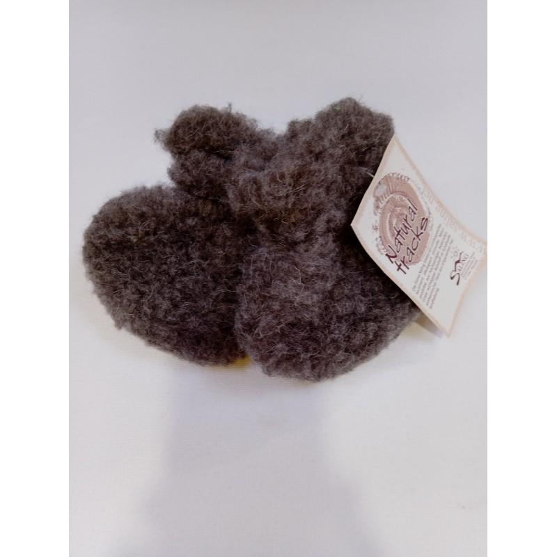 Saling baby shoes wool pile light brown
