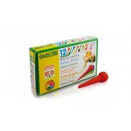 Oekonorm Waskrijtjes voor peuterknuistjes 12 kleuren pin