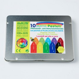Oekonorm Pastel krijtjes - 10st in metalen doosje