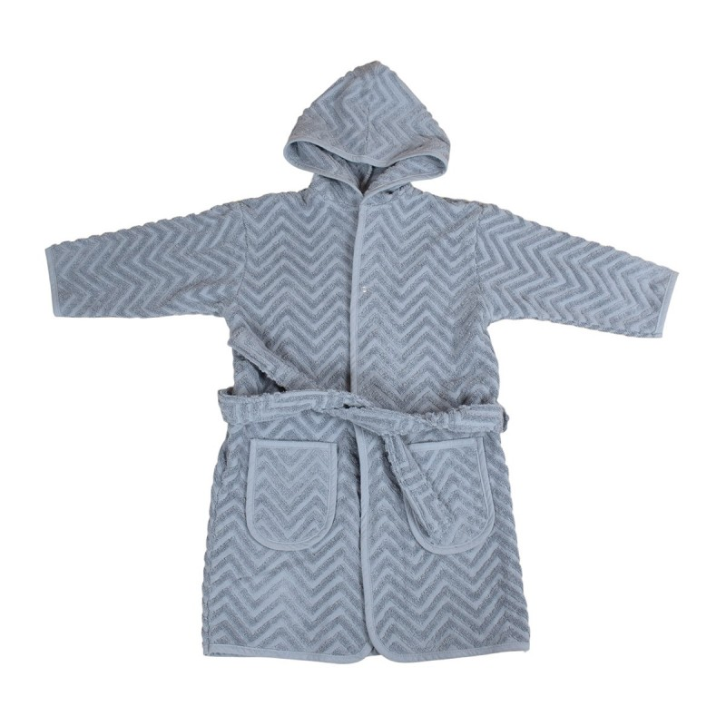 Filibabba Bathrobe Zigzag-Grey
