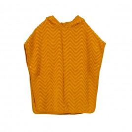 Filibabba Bath Poncho Zigzag  mustard