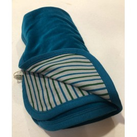 Leela Cotton Nickydecke 90 x 65 Ozeanblau