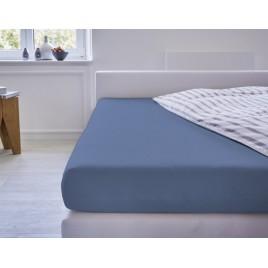 Cotonea Hoeslaken Jersey Babybed Blauw