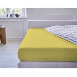 Cotonea Hoeslaken Jersey Wieg en Babybed Gelb