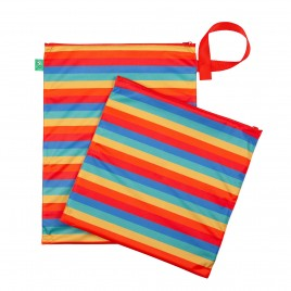 Totsbots Wet and Dry Bag  Rainbow Stripe