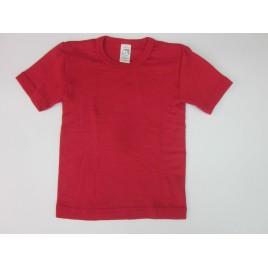 Engel Children's vest short sleeved, fine rib cherry-red