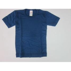 Engel Children's vest short sleeved, fine rib light ocean